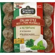 Cooked Perfect Meatballs, Beef & Pork, Italian Style