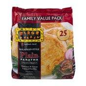 Mirch Masala Family Value Pack Malaysian-Style Plain Paratha - 25 CT