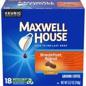 Maxwell House Breakfast Blend Light Roast K-Cup® Coffee Pods
