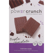 Power Crunch Protein Energy Bar, Triple Chocolate, 5 Pack