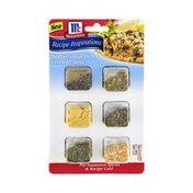 McCormick® Recipe Inspirations Mediterranean Herb Crusted Tilapia Pre-Measured Spices & Recipe Card