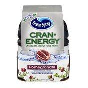 Ocean Spray Cran-Energy Cranberry Energy Juice Drink Bottles Pomegranate - 4 CT