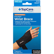 TopCare Antimicrobial Maximum Support Right Wrist Brace, One Size