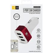 Case Logic Car Charger, 3 Port, Universal