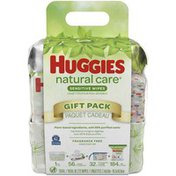 Huggies Natural Care Sensitive Baby Wipes Gift Pack