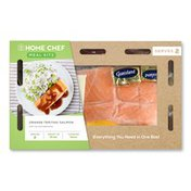 Home Chef Orange Teriyaki Salmon With Rice And Edamame