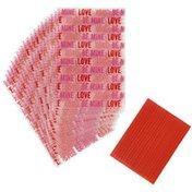 Wilton Valentine's Day Love Print Mini Treat Bags, 20-Count