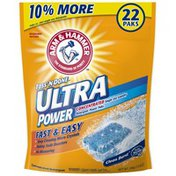 Arm & Hammer Toss 'N Done Ultra Power Clean Burst Single Use Power Paks Unit Dose Laundry Detergent