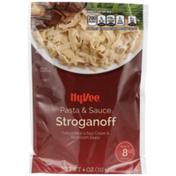 Hy-Vee Stroganoff Fettuccine Pasta In A Sour Cream & Mushroom Sauce