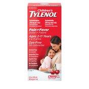 Children's Tylenol Oral Suspension, Dye-Free, Cherry Flavor