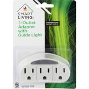 Smart Living 3-Outlet Adapter With Guide Light