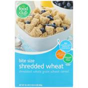 Food Club Shredded Wheat Bite Size Shredded Whole Grain Wheat Cereal