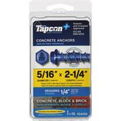 Tapcon Concrete Anchors, Block/Brick, 5/16 Inches