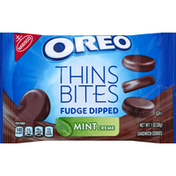 Oreo Sandwich Cookies, Fudge Dipped, Mint Creme