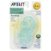 Avent Pacifiers, Soothie, Vanilla, 0-3 Months