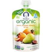 Gerber Organic 2 Nd Foods Organic Pears Peaches Pumpkin & Figs Baby Food