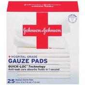 "Red Cross® Johnson & Johnson Medium 3"" X 3"" First Aid Covers Gauze Pads"