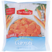 Our Family Steamable Crinkle Cut Carrots