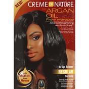 Creme of Nature Argan Oil No Lye Relaxer Kit, Regular