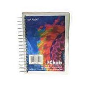 Top Flight Chub Wirebound Notebook, Assorted Rainbow Sheets, Narrow Ruled, 180 Sheets
