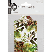 Jillson & Roberts Gift Tags, Elegant Pine, String Attached, Double-Sided