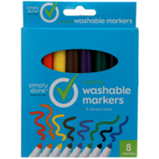 Simply Done Broad Tip Washable Markers