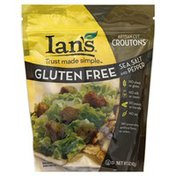 Ians Croutons, Artisan-Cut, Gluten Free, Sea Salt and Pepper