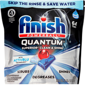 Finish Automatic Dishwasher Detergent, Quantum,  with Activblu Technology, Tabs, Pouch