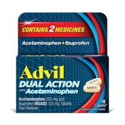 Advil Dual Action Coated Caplets, Dual Action Coated Caplets