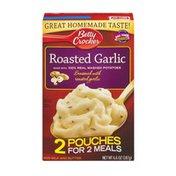 Betty Crocker Real Mashed Potatoes Mix Pouches Roasted Garlic - 2 CT