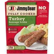 Jimmy Dean Fully Cooked Turkey Sausage Links, 48 Count