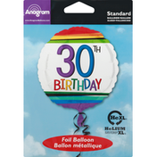 Anagram Foil Balloon, 30th Birthday, Helium XL
