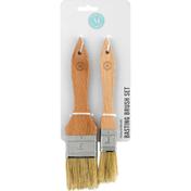 Martha Stewart Basting Brush Set, Natural Bristle