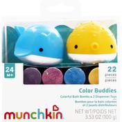 Munchkin Bath Bombs & Dispenser Toy Set