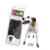 PawZ Black Protex Water-Proof Paws Disposable Reusable Dog Boots