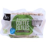 Essential Everyday Coffee Filters, Basket, Natural Brown