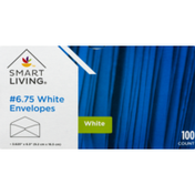Smart Living 6.75 White Envelopes - 100 CT