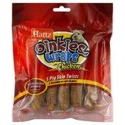 Hartz Pig Skin Twists, Wraps with Chicken