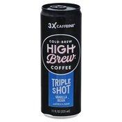 High Brew Coffee, Cold-Brew, Tripe Shot, Vanilla Bean