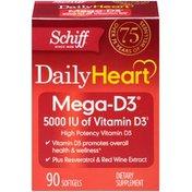 Schiff Daily Heart Mega-D3 5000 IU Softgels Dietary Supplement