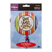 """Anagram Foil Balloon 18"""" Get Well Soon Smiles"""