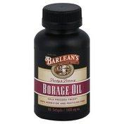 Barlean's Borage Oil, 1000 mg, Softgels