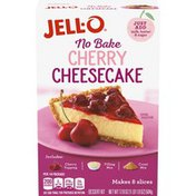 Jell-O Cherry Cheesecake Dessert Kit with Cherry Topping, Filling Mix & Crust Mix