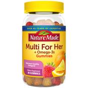 Nature Made Women's Multivitamin + Omega-3 Gummies - Strawberry, Lemon & Orange