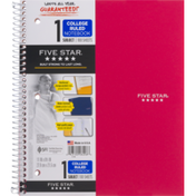 Mead Notebook, 1 Subject, College Ruled, 100 Sheets