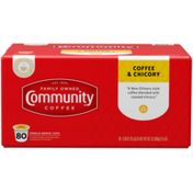 Community Coffee Coffee and Chicory Coffee Pods for Keurig K-cups