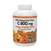 Natural Factors Vitamin C Dietary Supplement, 500 Mg, Tangy Orange