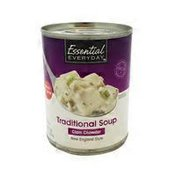 Essential Everyday New England Style Clam Chowder Traditional Soup
