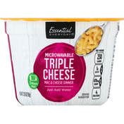 Essential Everyday Mac & Cheese Dinner, Microwavable, Triple Cheese