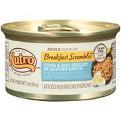 NUTRO Breakfast Scrambles Adult Tuna & Egg Skillet in Savory Sauce Cat Food